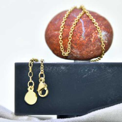 Necklace Stainless Steel gold plated